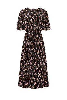Floral Printed Open Back Dress by Les Reveries