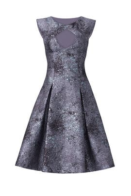 Cosmic Jacquard Party Dress by pamella by pamella roland