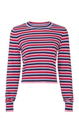 Stripe Nikki Crop Sweater by Spiritual Gangster