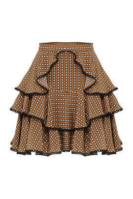 Striped Ruffle Skirt by AMUR