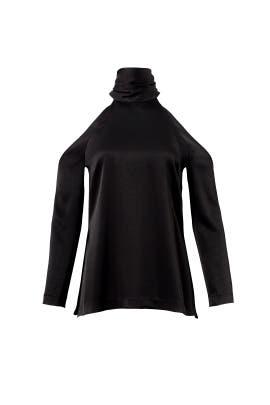 Black Sash Cold Shoulder Top by GALVAN