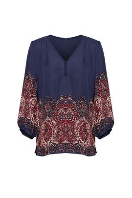Paisley Printed Riva Top by Joie