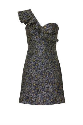 Floral One Shoulder Dress by ML Monique Lhuillier