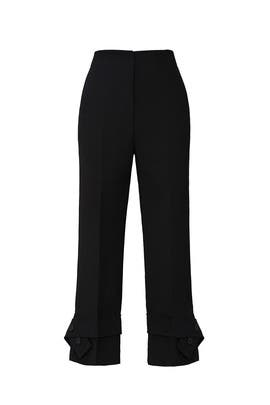 Black Belted Cuff Trousers by 3.1 Phillip Lim