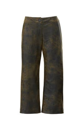 Franz Faux Leather Gaucho Pants by Snider