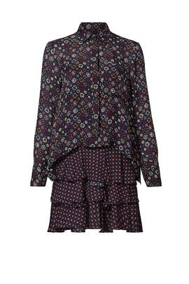 Mix Paisley Shirt Dress by Derek Lam 10 Crosby
