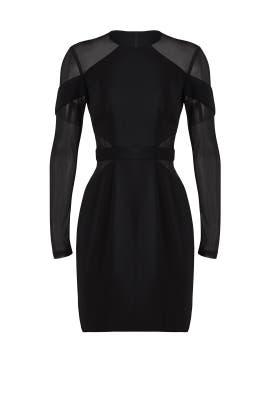 Black Mesh Hall Dress by Jay Godfrey