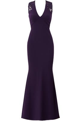 Eggplant Ottoman Gown by JS Collection