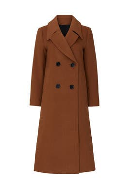 Camel Wool Double Breasted Coat by Nicholas