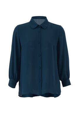 Blue High Low Button Down by Paper Crown
