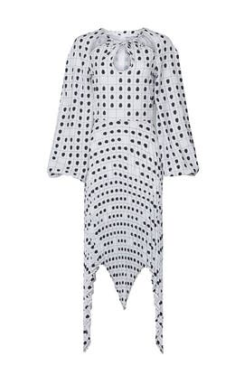 Fingerprint Bohemia Dress by Thebe Magugu