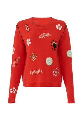 Embroidered Milagro Sweater by Chinti & Parker