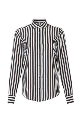 White Black Striped Shirt by Christian Pellizzari