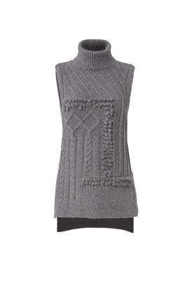 Grey Turtleneck Top by Derek Lam 10 Crosby