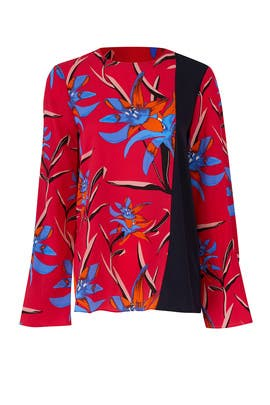 Side Slit Blouse by Diane von Furstenberg
