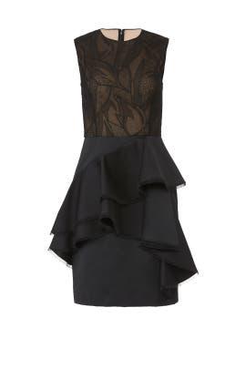 Ruffled Illusion Dress by Jason Wu Collection