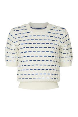 Striped Cable Sweater by kate spade new york