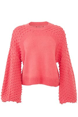 Pink Pom Sleeve Sweater by (nude)