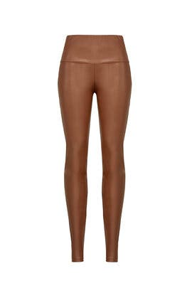 Tan Vegan Leggings by Paper Crown