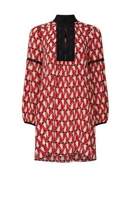 Heart Printed Dress by Anna Sui
