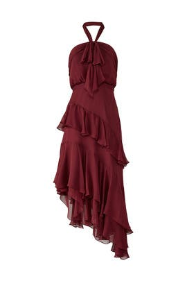 Burgundy Valle Dress by Cinq à Sept