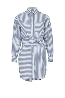 The Alda Stripe Shirtdress by Current/Elliott