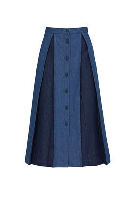 Sara Denim Skirt by Deborah Lyons
