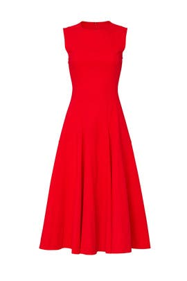 Red Flared Dress by Derek Lam Collective