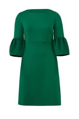 Emerald Bell Sleeve Dress by ELOQUII
