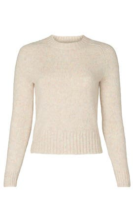 Oatmeal Saddle Sweater by J.Crew
