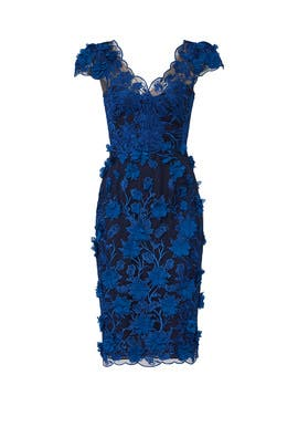 Floral Embroidered Dress by Marchesa Notte