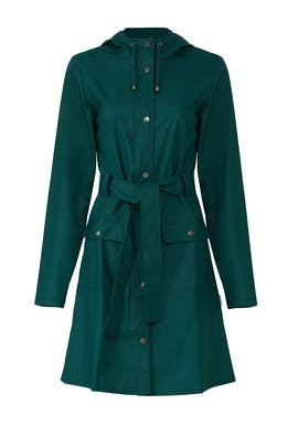 Teal Curve Jacket by RAINS