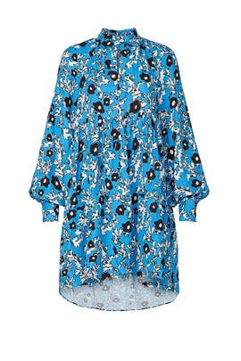 Blue Printed Jasmine Dress by STINE GOYA