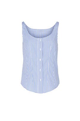 Gingham Scoop Neck Top by Thakoon Collective