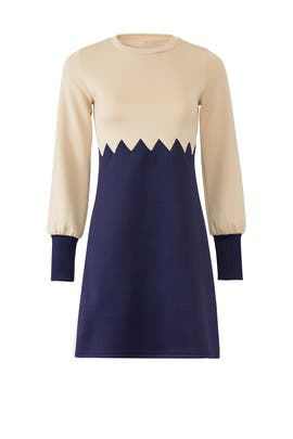 Zigzag Colorblock Dress by Waverly Grey