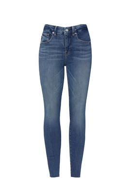 Good Legs Raw Edge Jeans by GOOD AMERICAN