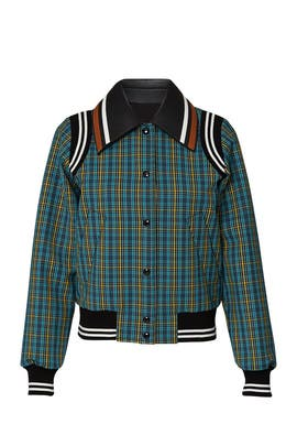 Plaid Bomber Jacket by No. 21