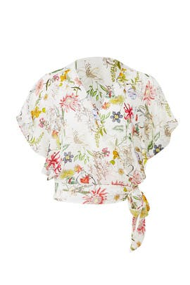 Floral Kory Faux Wrap Top by Parker