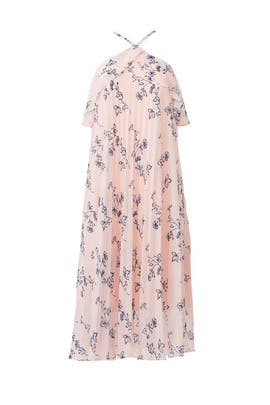Pink Floral Halter Dress by Shoshanna