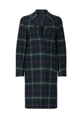 Tartan Wool Overcoat by Harris Wharf London