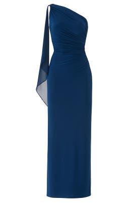 Lisella Combo Gown by Lauren Ralph Lauren