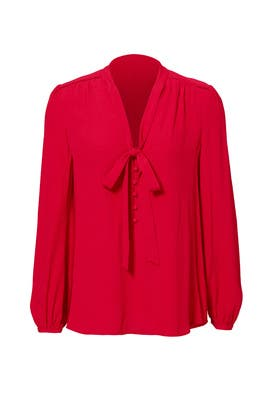 Red Lumley Top by Rebecca Minkoff