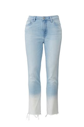 Dip Dye Modern Standard Crop Jeans by Sanctuary