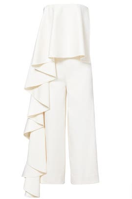 Cream Cecilia Jumpsuit by Solace London