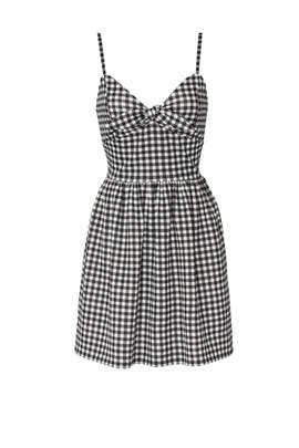 Gingham Fit and Flare Dress by Slate & Willow