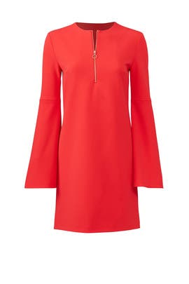 Red Zip Front Dress by Tibi