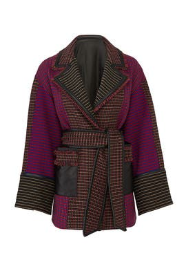 Houndstooth Joyce Coat by Tanya Taylor
