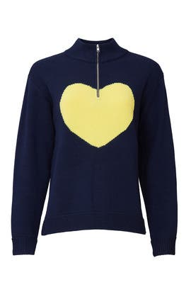 Heart Graphic Sweater by Victor Alfaro Collective