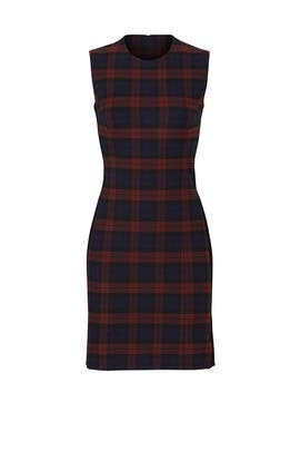 Plaid Godet Dress by Derek Lam 10 Crosby