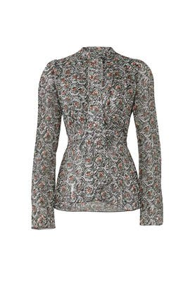 Damask Printed Top by DEREK LAM